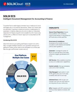 Intelligent Document Management for Accounting & Finance