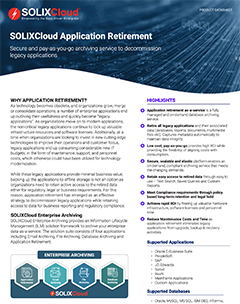 Application Retirement Made Simple with SOLIXCloud