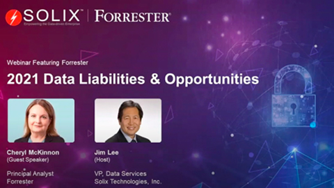 Webinar Featuring Forrester - 2021 Data Liabilities & Opportunities