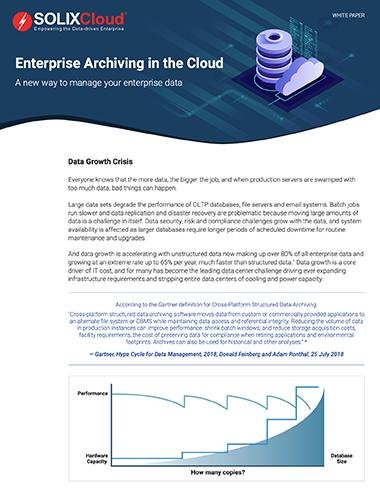 Enterprise Archiving in the Cloud